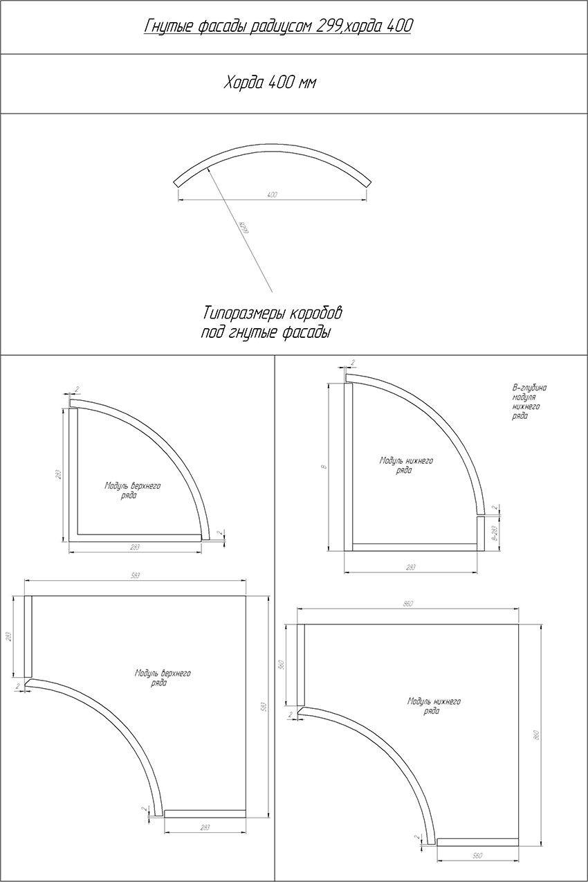 Гнутые фасады 299 радиусом 400 хорда(16 мм) (orig)